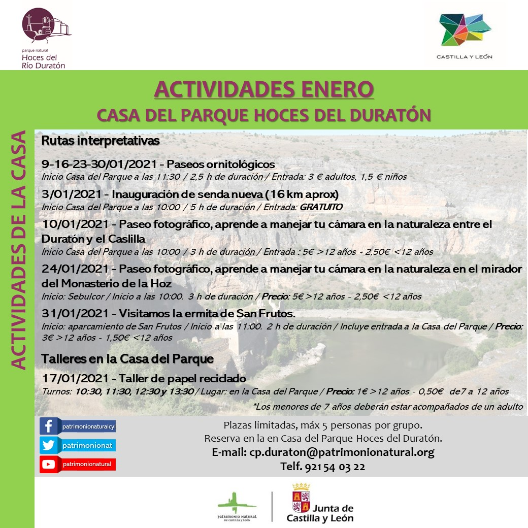 JANUARY ACTIVITIES CP DURATON cited