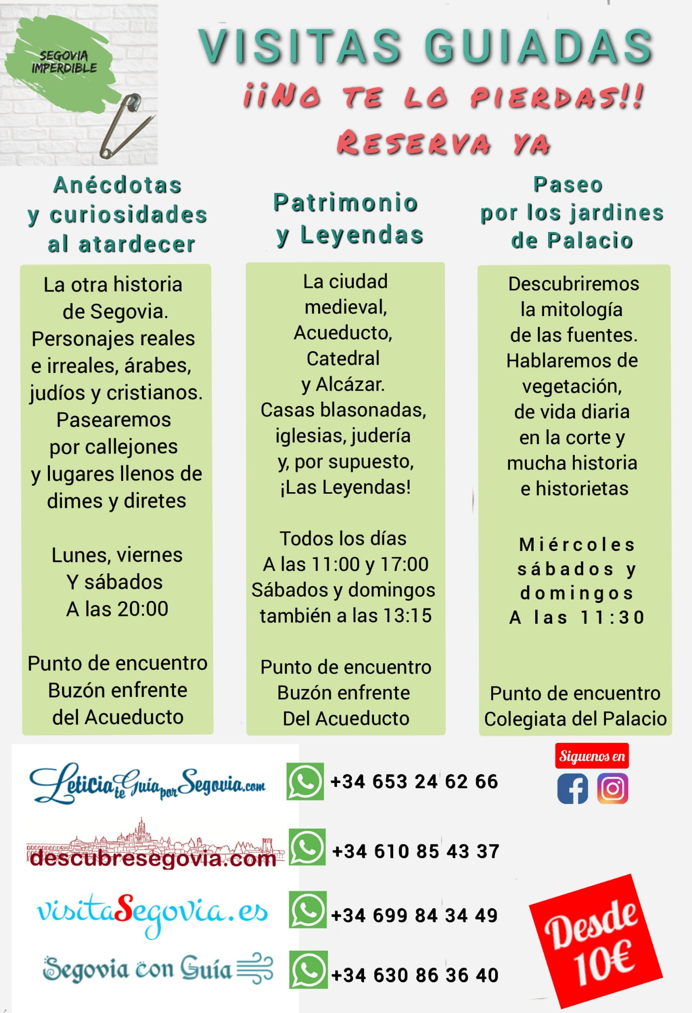 Poster Guided Tours Segovia Unmissable