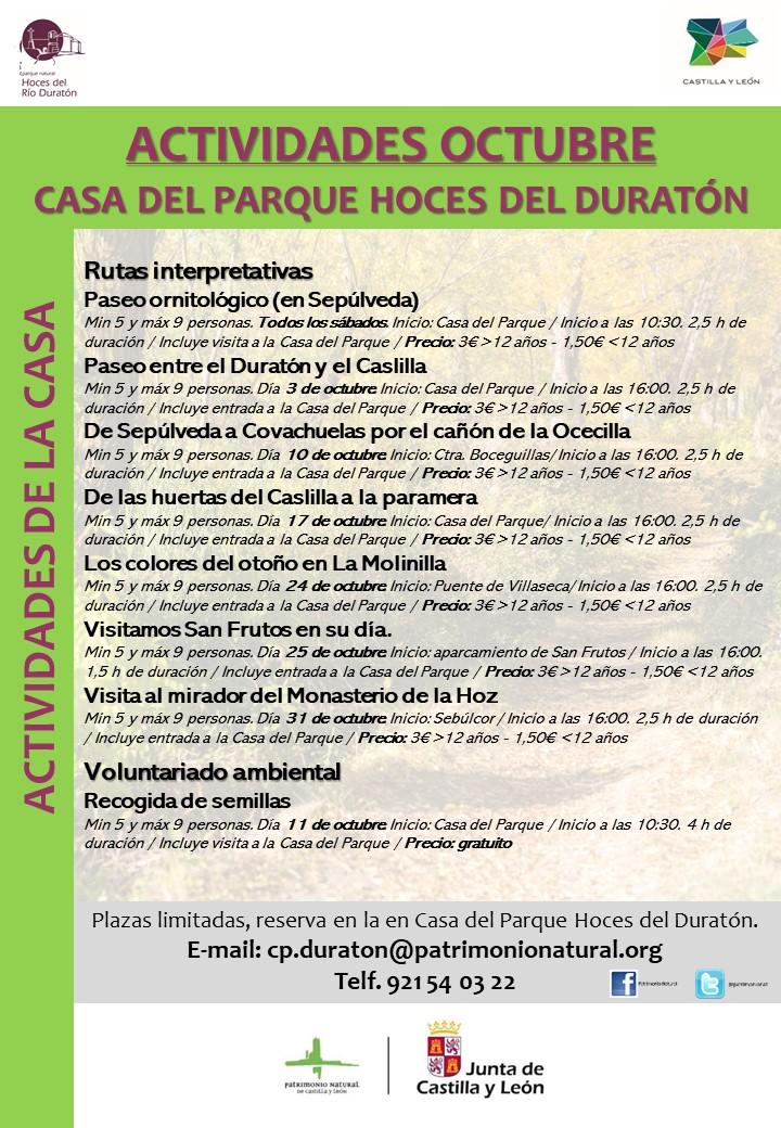OCTOBER ACTIVITIES CP DURATON