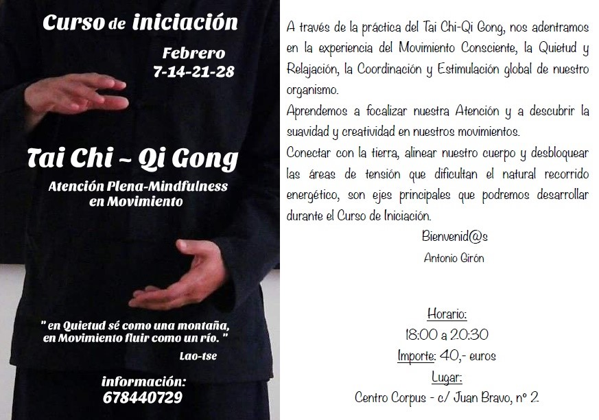 202002 7 14 21 28 Course Initiation Taichi poster