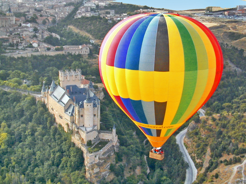 Balloon ride in Segovia