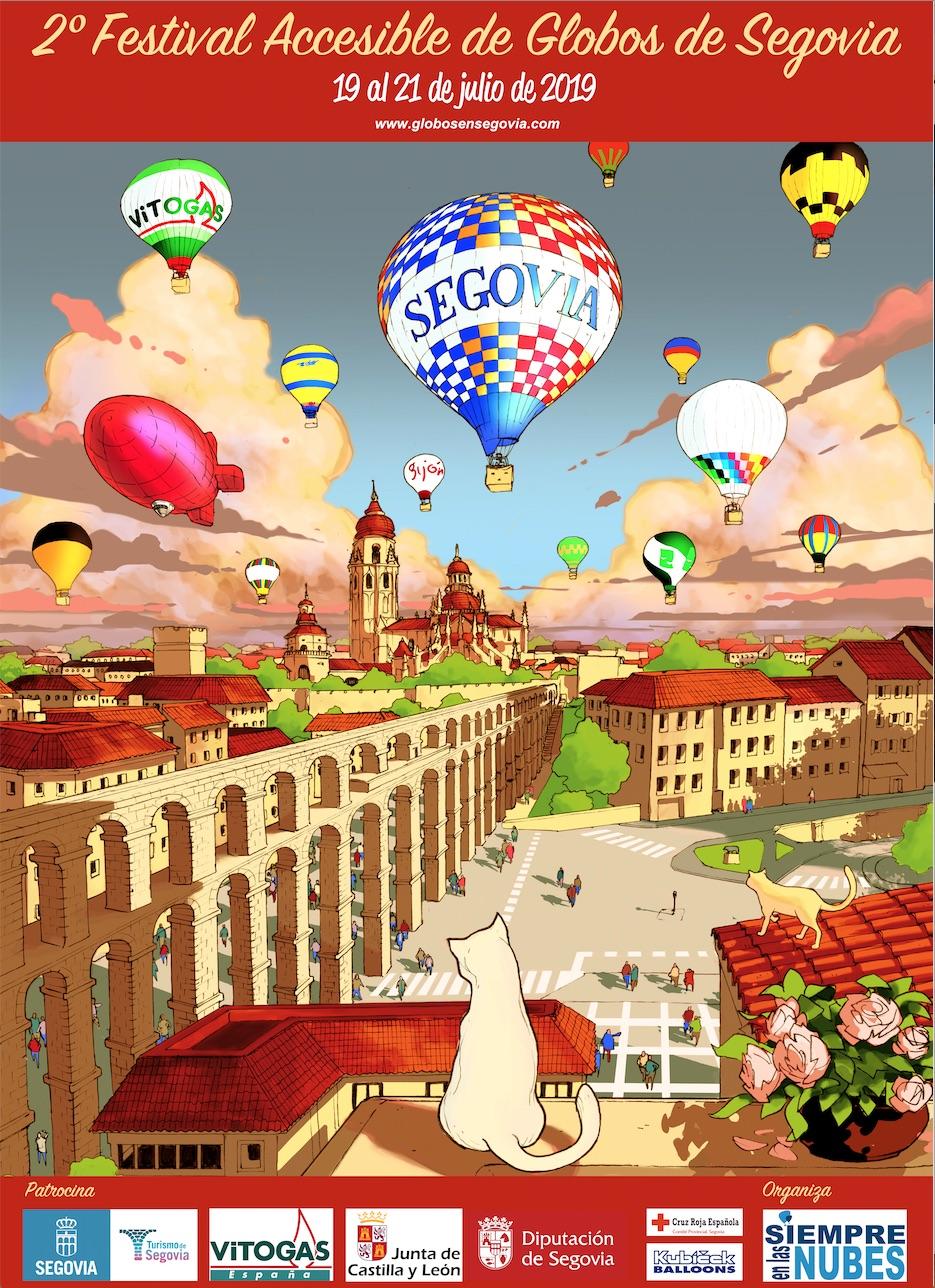 Affiche accessible du festival 2 de Balloons of Segovia