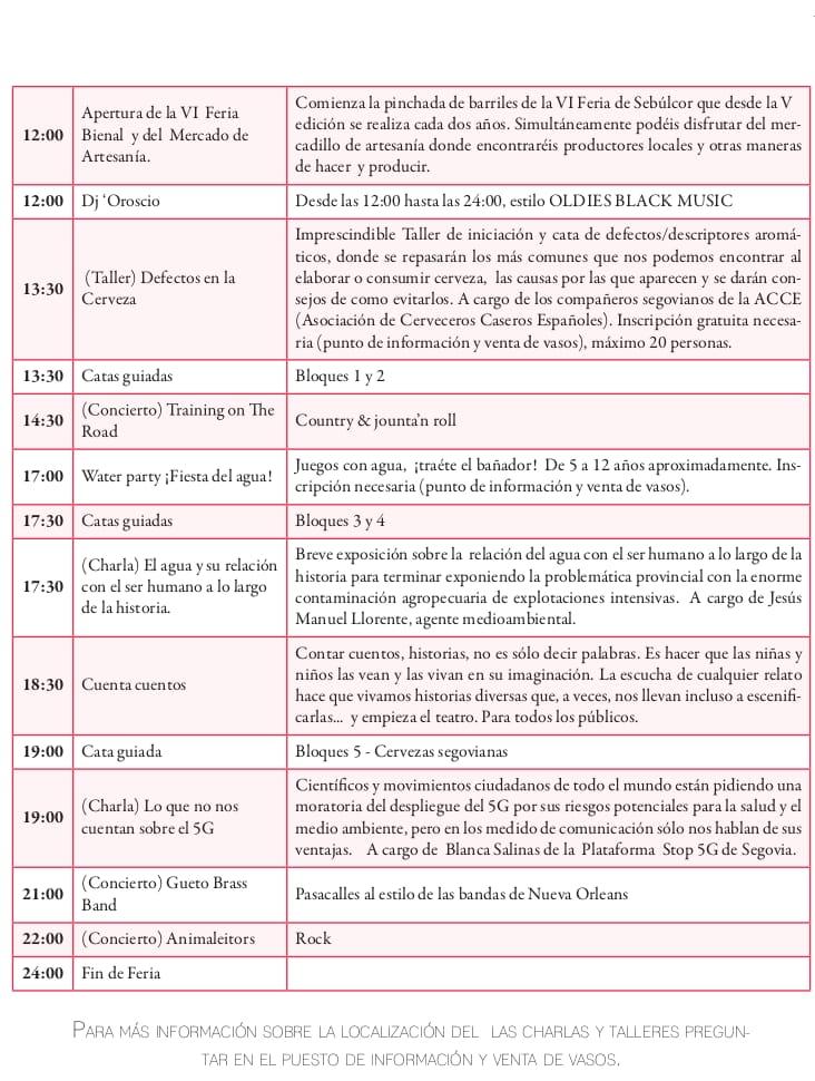 Programme Feria Seblcor