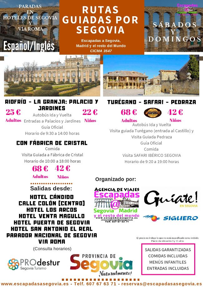 Guided tours of Segovia