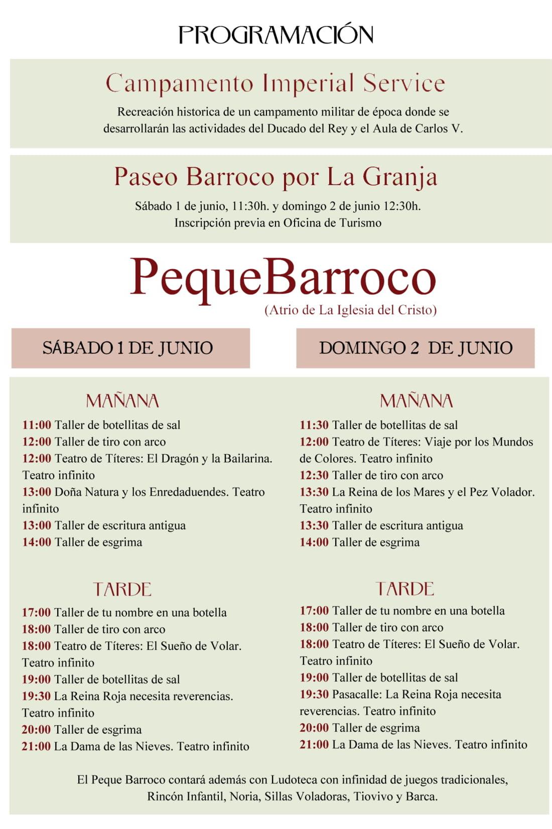 Programme baroque en plein air 2