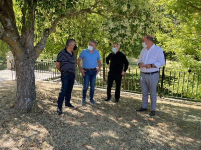 Miguel Ángel de Vicente has visited the Sanctuary of El Henar to check the status of the works being carried out by the Provincial Council in the surroundings and accesses for the celebration of the Jubilee Year