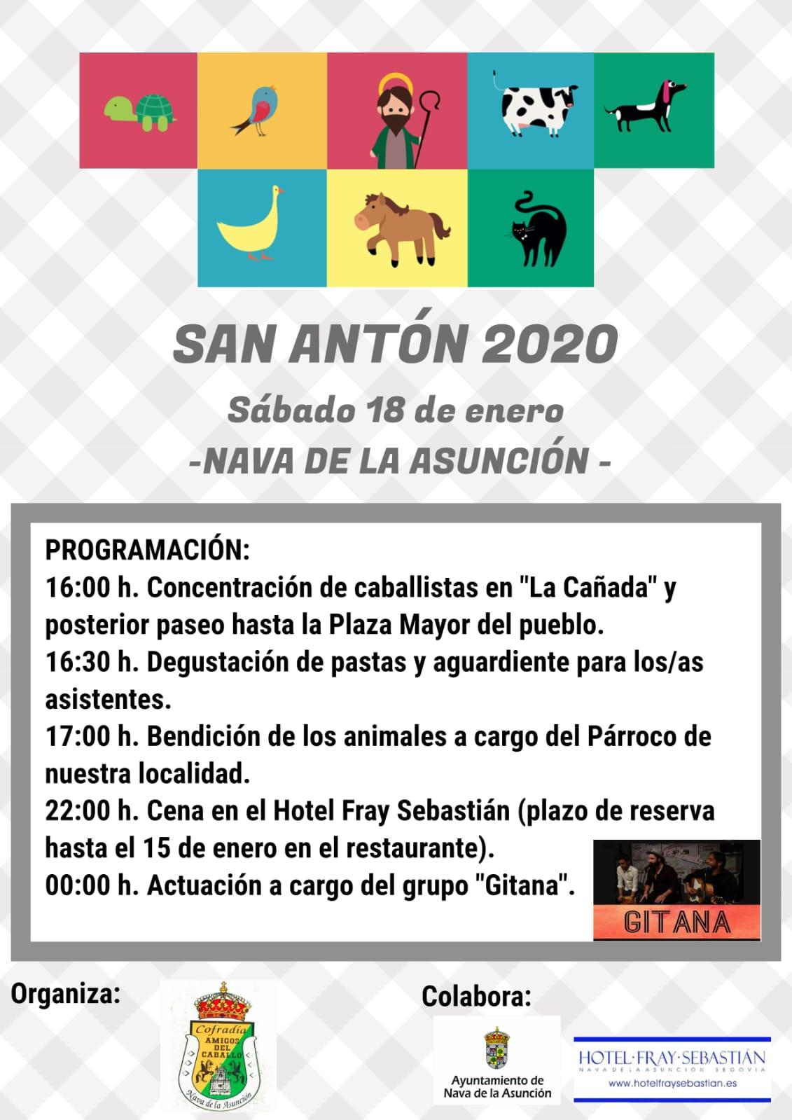 San Antón 2020 in Nava de la Asunción