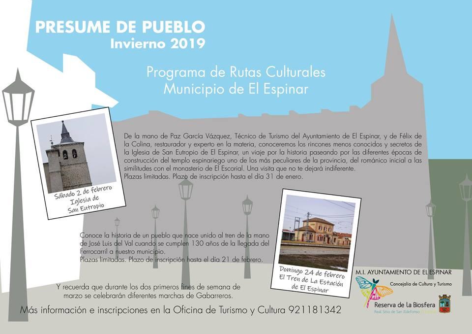 Itinéraires culturels El Espinar