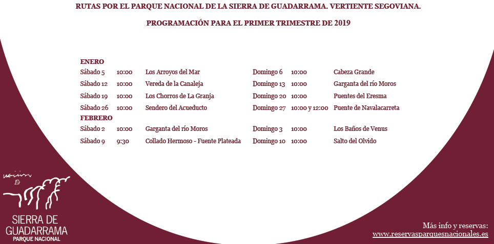 itinéraires du parc de guadarrama