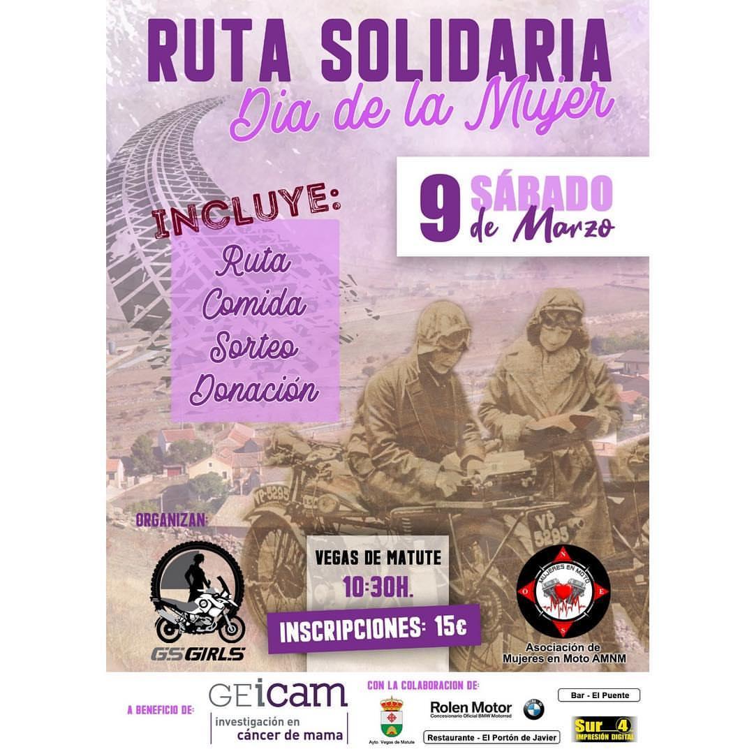 route solidaire femmes motos