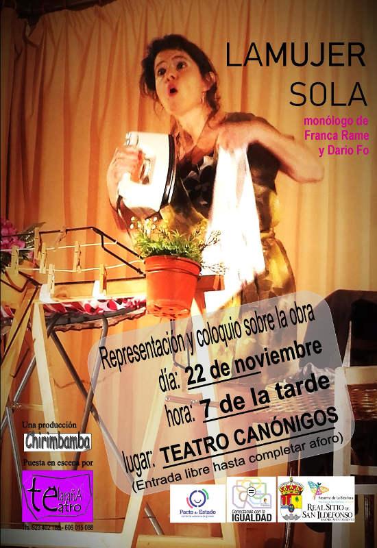 théâtre canonigos la femme solitaire 22nov