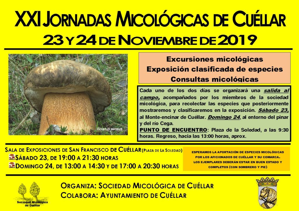 XXI Mycological Days of Cuéllar